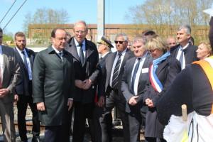 Visite de François Hollande à NOVIUM