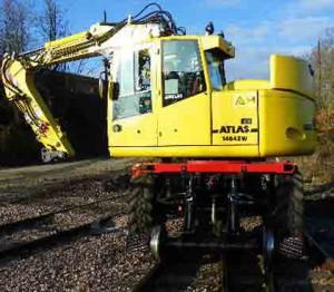 maintenance pelle rail route atlas