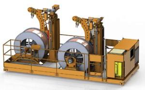 module 20 pieds derouleur catenaire