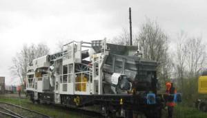wagon à déchargement sur rail